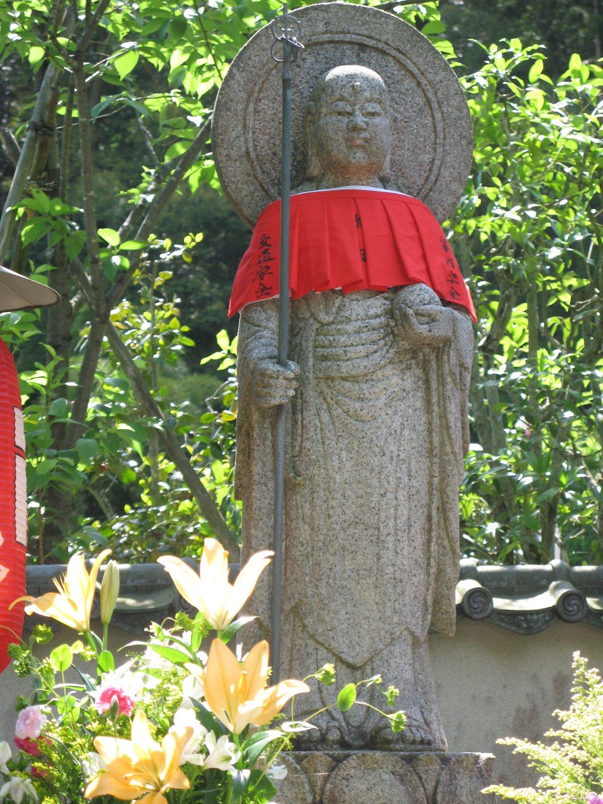 Jizo at Suzumushi Temple - Picture by Michael Lambe