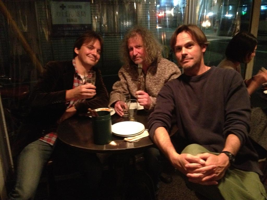 Messrs. Lambe, Yellin &amp; Taylor enjoying craft ales and good conversation at Bungalow