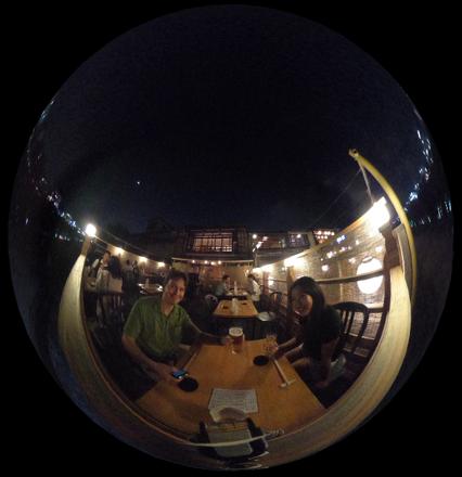 Yuka balcony dining at Shiki Yoshina