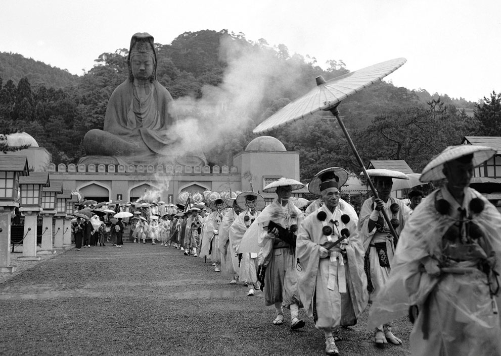 Buddhist goddess of Mercy Statue in Kyoto, Japan on May 11, 1958, after the unveiling of a memorial to Allied dead of World War II on June 8.