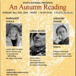 Autumn Poetry Reading from Kyoto Journal at Be-Kyoto; November 16th