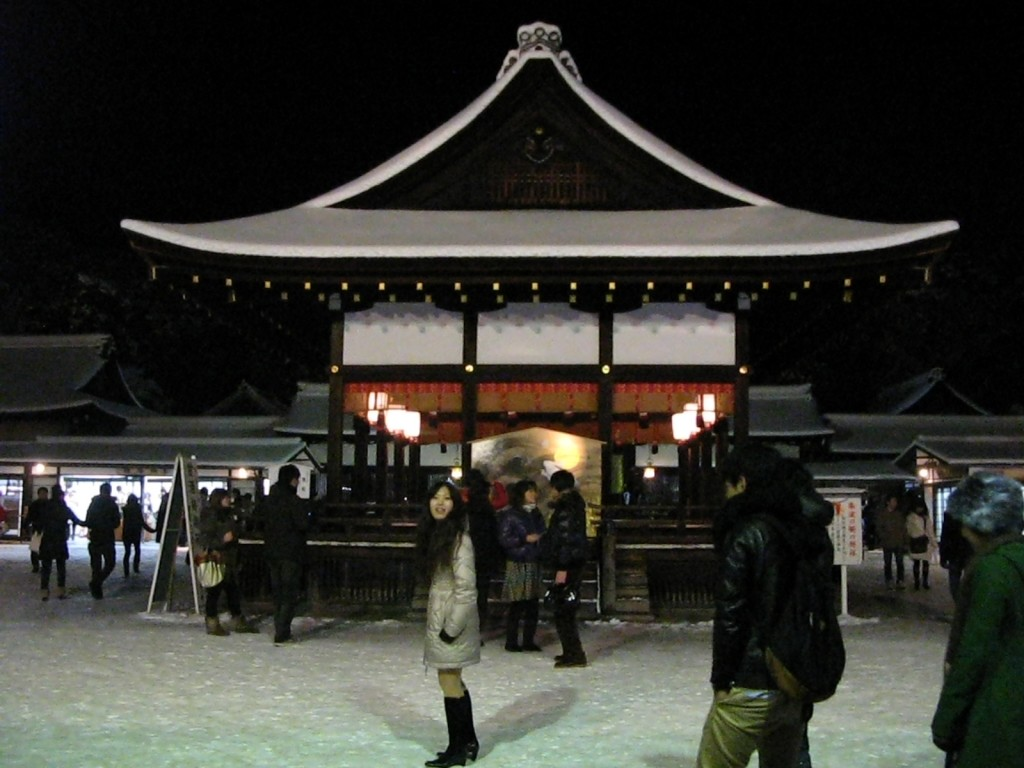 Shimogamo Shrine in the early hours of January 1st 2011