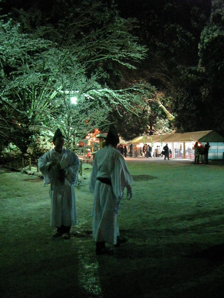 At Shimogamo Shrine