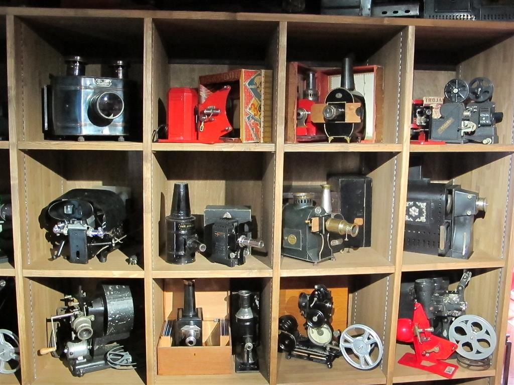 Some of those old timey projectors.