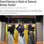 Sword Dancing at Samurai Kembu Theater on Inside Kyoto