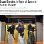 Sword Dancing at Samurai Kembu Theater on Inside Kyoto