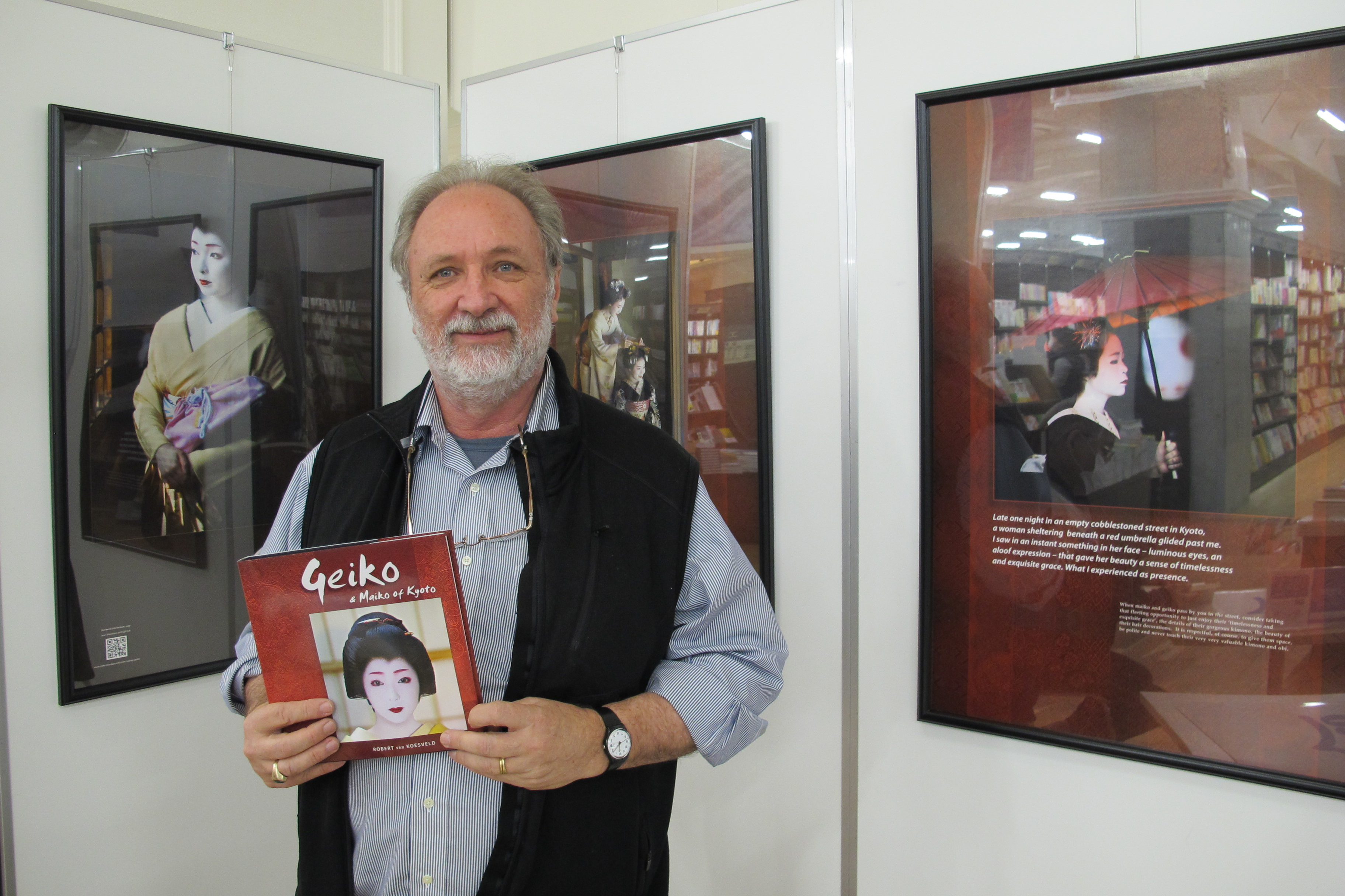 Robert and his book in Maruzen bookstore.