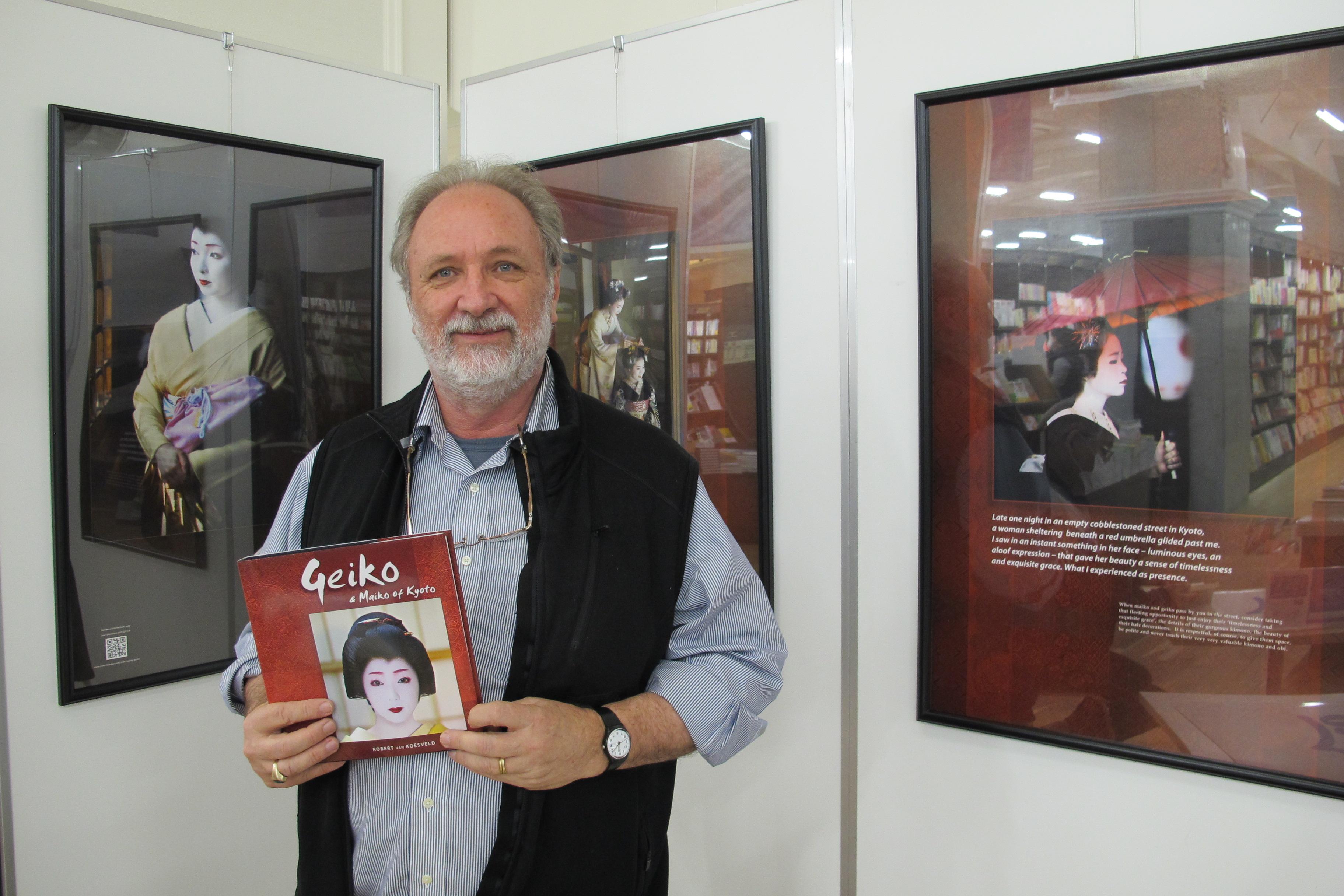 Robert and his book in Maruzen bookstore.